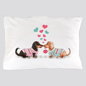 Doxie Valentine Pillow Case